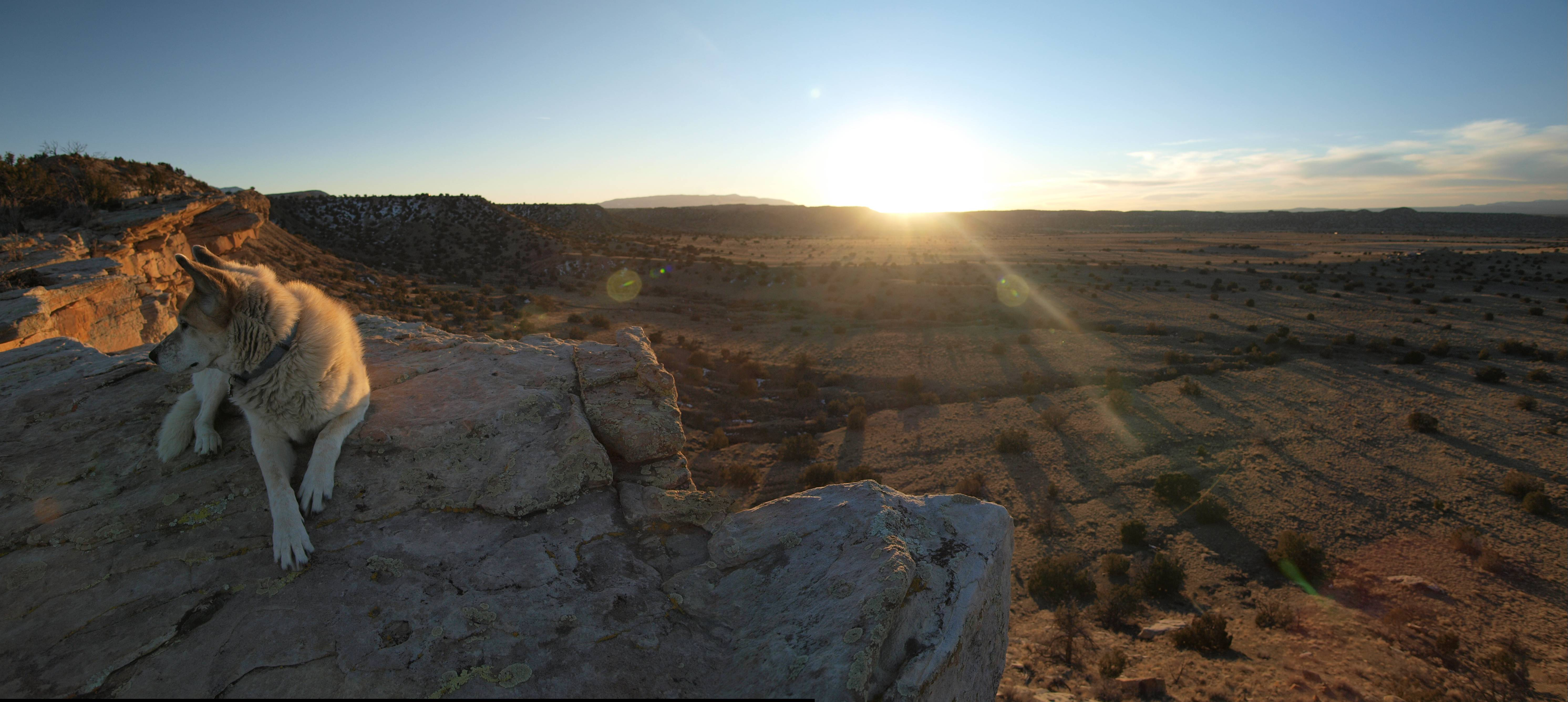 Cliff Face Sunset