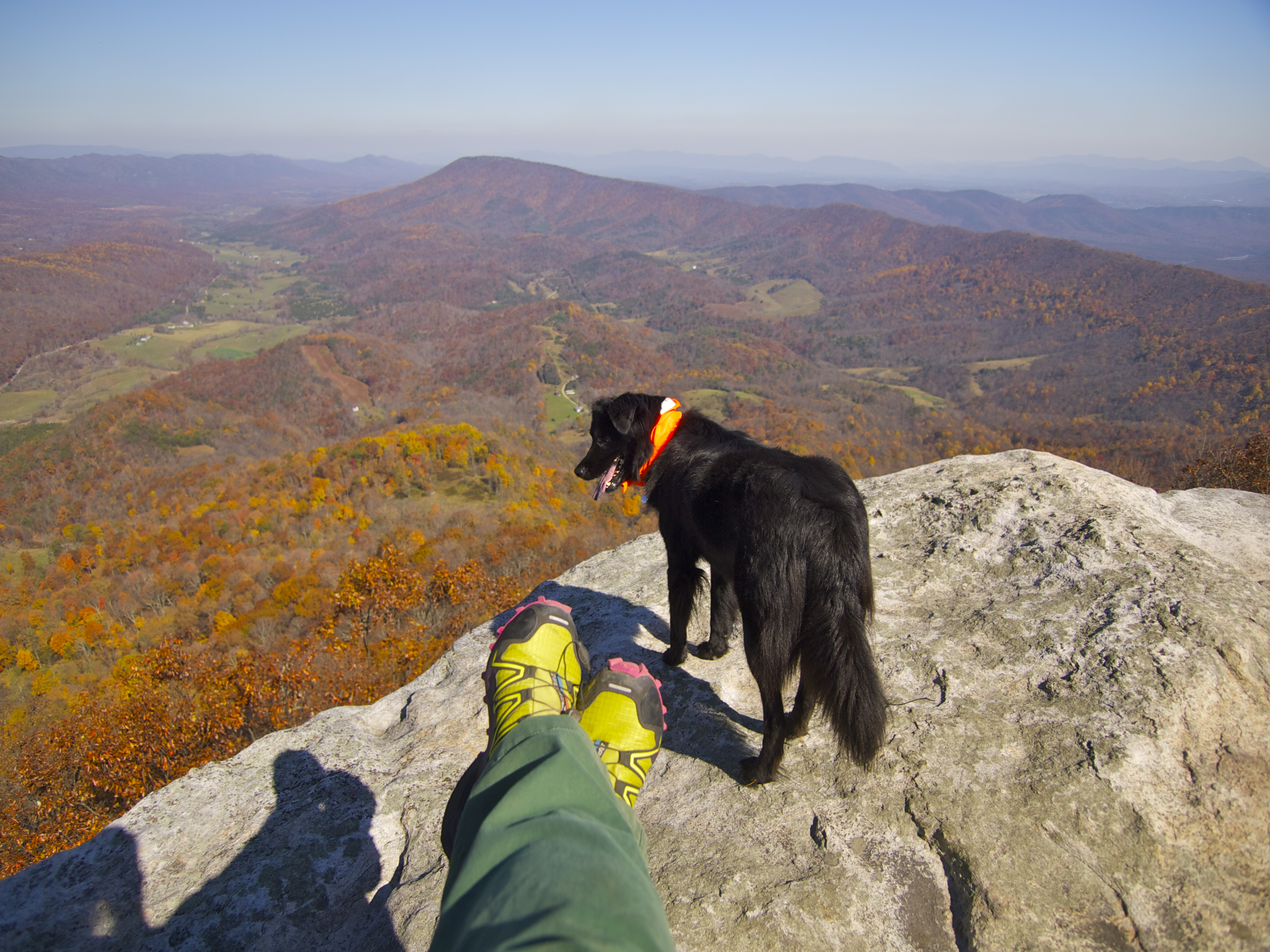 A Jackpot Day At Mcafee Knob Travels With The Blonde Coyote
