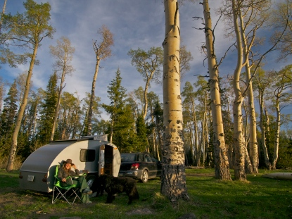 Free campsite in Cedar Breaks National Forest, Utah