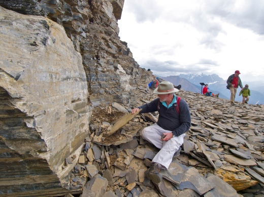 My dad sorts through shale slabs at the famous Walcott Quarry. In the hour we spent at the quarry, we found dozens of fossils!
