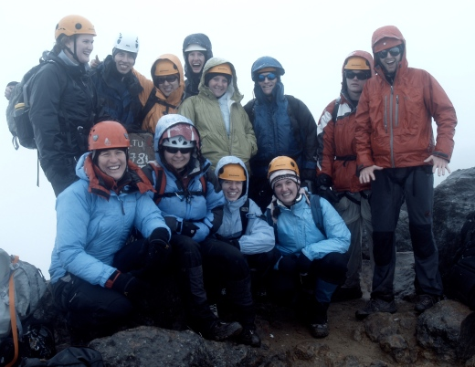 Group photo on the summit of Gua-Gua. Everybody made it! I'm in the middle in green. Sarah's on the far left.