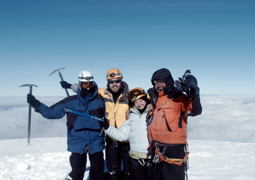 On the summit of Cayambe- 18,900 feet!