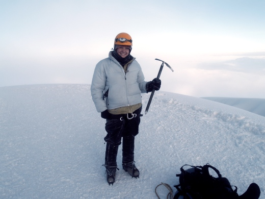 On the summit of Cotopaxi- 19,200 feet!