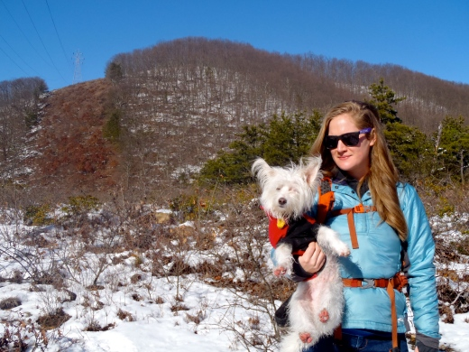 Sarah & her mini-Mountain Mutt Oliver