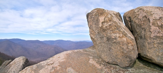 Old Rag Granite is only found in this one peak in the Blue Ridge Mountains