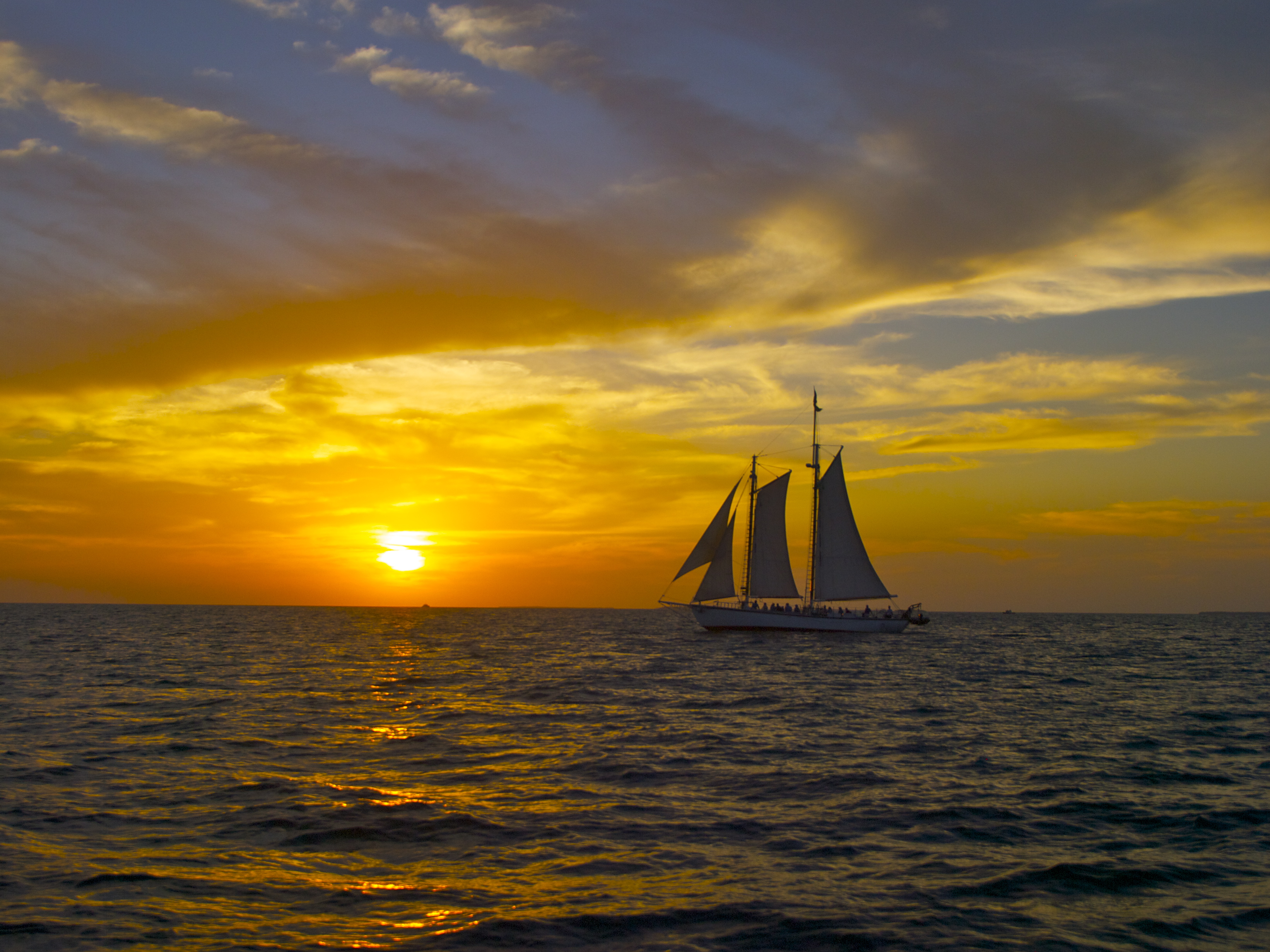 Captain Boat Seats >> Off the Island, On the Water: Key West Sunset Sail! | Travels with the Blonde Coyote