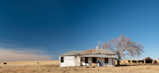 One of the many ruins along the back roads in Kansas.