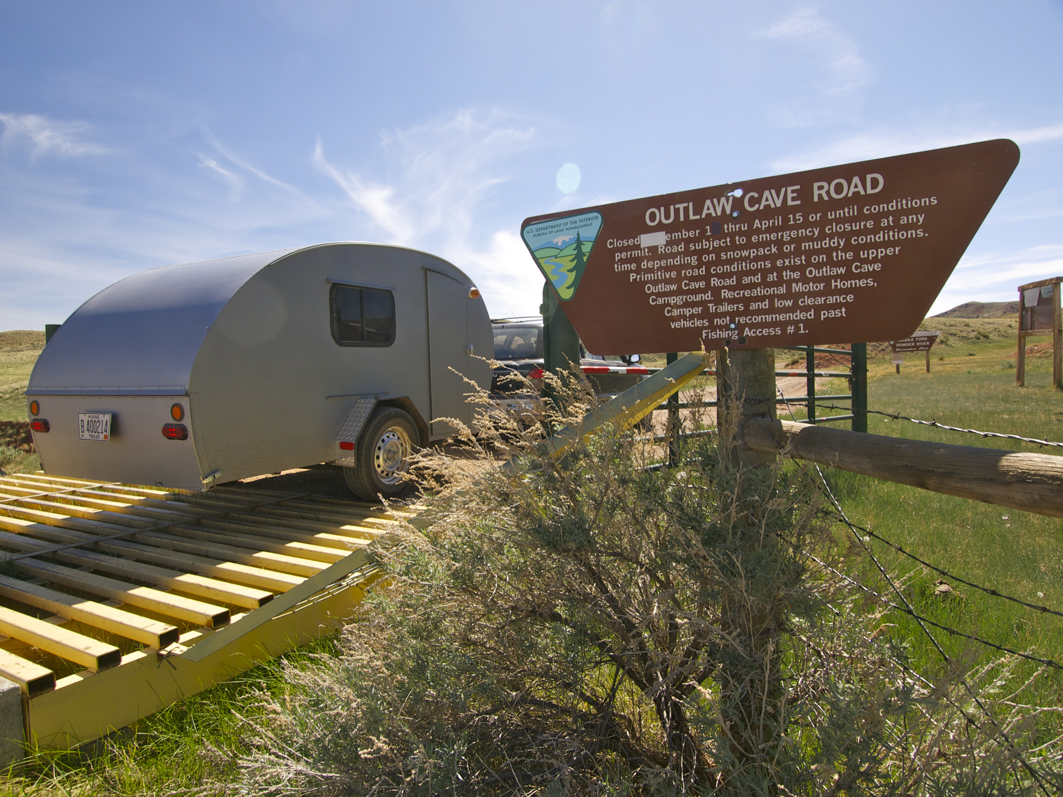 the teardrop sees america travels the blonde coyote on the road to butch cassidy s outlaw cave in eastern wyoming
