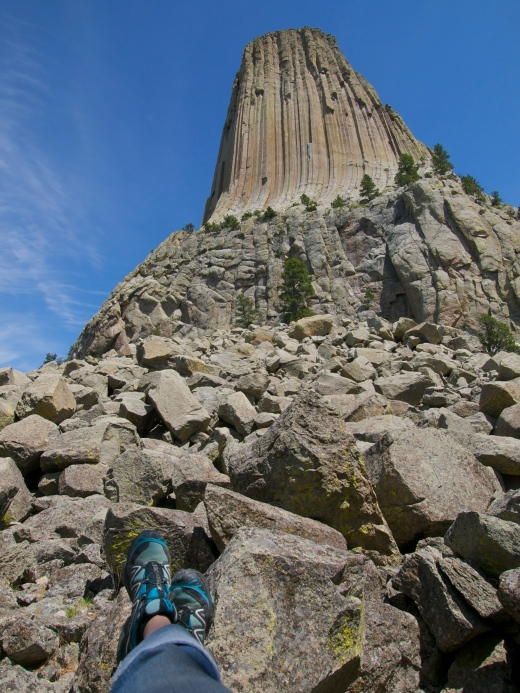 Self Portrait at the Devil's Tower last summer.