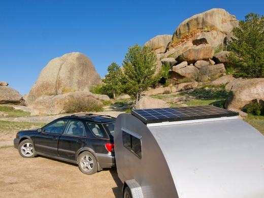 Vedauwoo Rocks, Wyoming, after getting my solar panel installed
