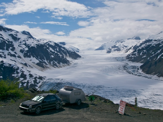 Boondocking by the Salmon Glacier on the border of BC and Alaska