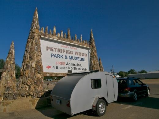 Petrified Wood Park in Lemon, South Dakota