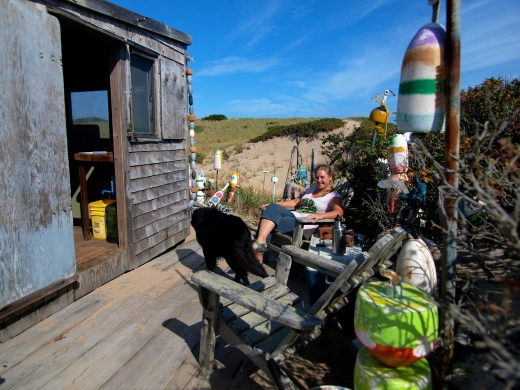 Chilling at the Cape Cod Dune Shack, also on my to-write list!