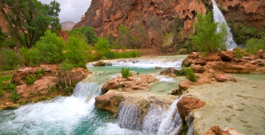 Below Havasu Falls