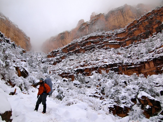 Bright Angel Snowstorm, Grand Canyon, Arizona