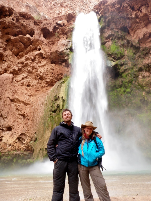 Me & Devin in front of End Falls, happy to have survived the descent!