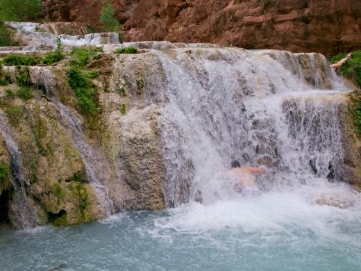 Devin's shower in Beaver Falls