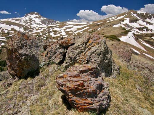 Summit Peak (which I climbed in 2011) and Montezuma Peak from the Unicorn