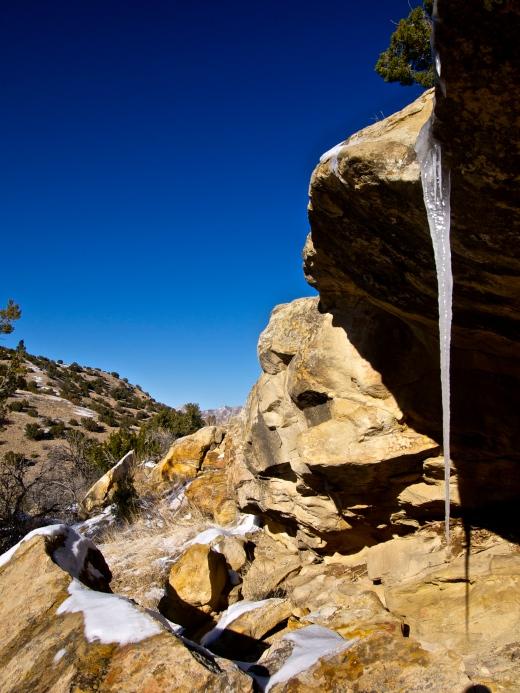 Desert Treasure: a 2-foot icicle!