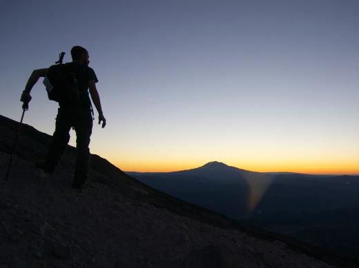 First light over Mount Adams
