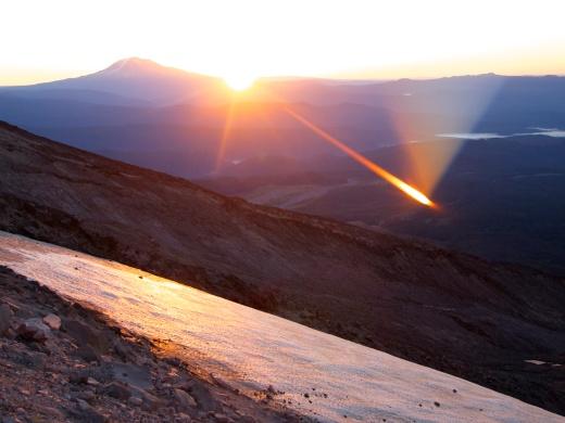 Good Morning! Sunbeam across the Shoestring Glacier.