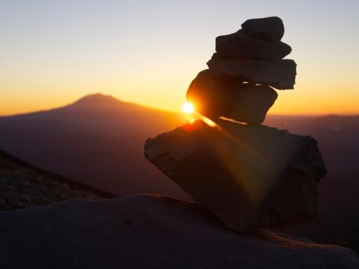 Sunrise on Mount Saint Helens