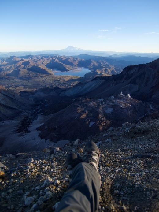Self Portrait at Mount Saint Helens