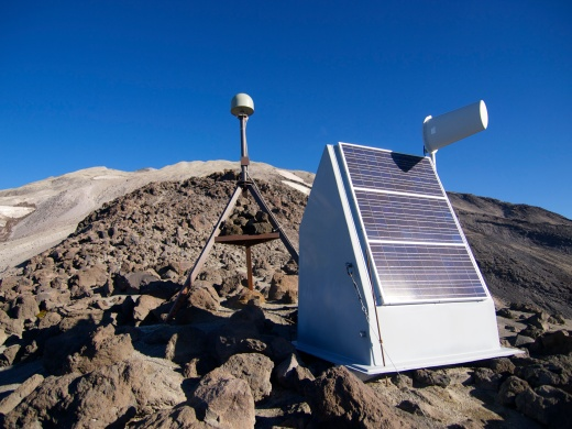 A seismic station on the south flank of Helens