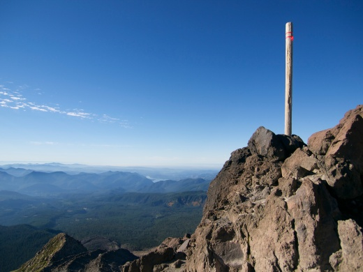 One of the trail markers up Helens. The route was a little hard to follow in the dark but we stayed mostly on track.