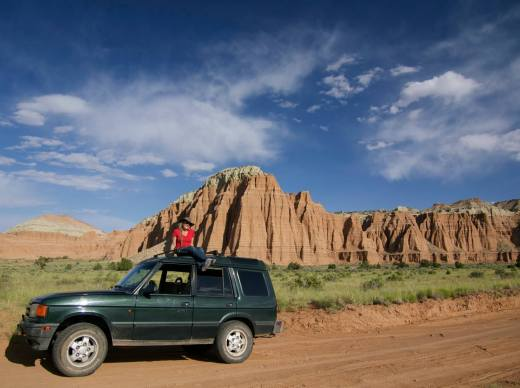 Me and my dream car in Cathedral Valley, Utah