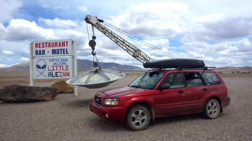 Ruby meets her first UFO on the Extraterrestrial Highway in Nevada