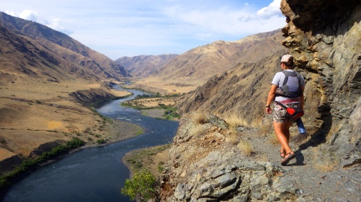 Hiking in Hells Canyon. After a few days sitting in a boat, I was jonesing for a walk!
