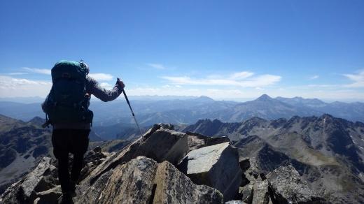 Lone Peak from Gallatin Peak