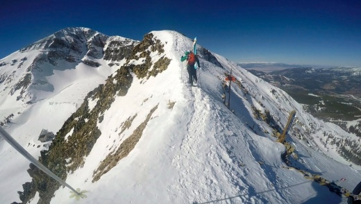 Hiking the A To Z Ridge out to Headwaters, the realest-dealest inbounds skiing in America.