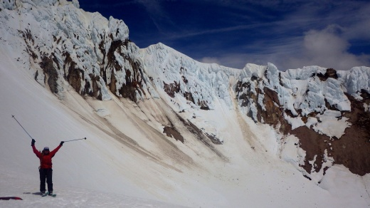 Crater of Mount Hood. We skinned up to here then skied down and climbed it again the next day to summit on foot.