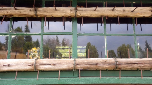 Bearcountry Cabin.. those spikes aren't for pigeons!