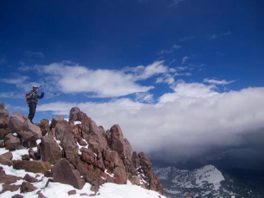 Summit of Lassen Peak, on the 100 year anniversary since the last eruption in 1915